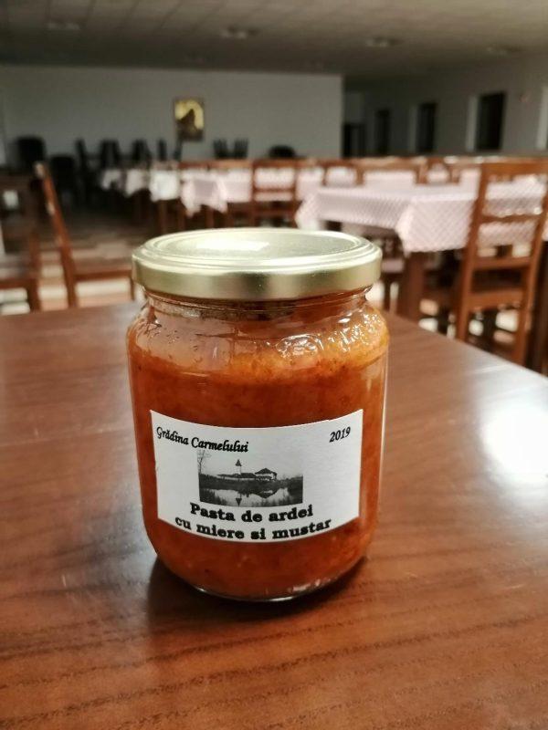 Pastă de ardei cu miere și muștar